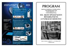 PROGRAM - Společnost rehabilitační a fyzikální medicíny ČLS JEP