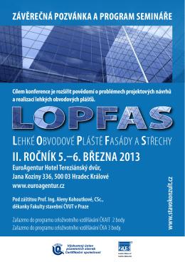 II. rOčník 5.–6. března 2013