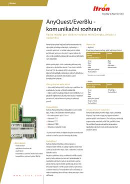 AnyQuest/EverBlu - komunikační rozhraní