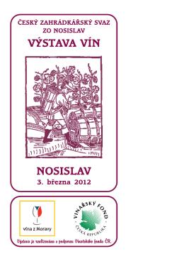 Nosislav 2012 pdf - Výstava vín Velké Němčice