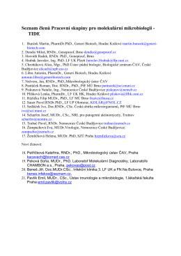 Seznam členů Pracovní skupiny pro molekulární mikrobiologii