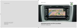 radionavigační systém columbus návod k obsluze