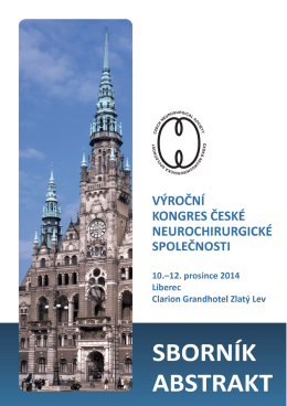 zde - Výroční kongres ČNCHS, 10. až 12. 12. 2014, Liberec