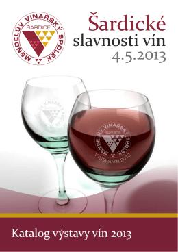 Katalog-2013 - Mendelův vinařský spolek Šardice