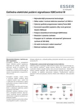 Ústředna elektrické požární signalizace IQ8Control M