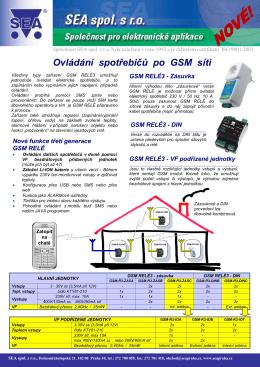 Ovládání spotřebičů po GSM síti