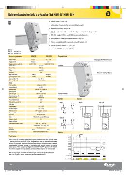 Relé pro kontrolu sledu a výpadku fází HRN-55, HRN-55N