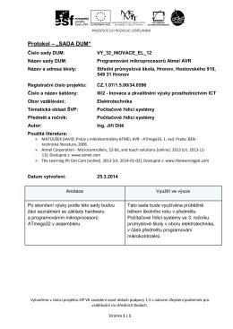 Programování mikrokontrolérů ATmega32