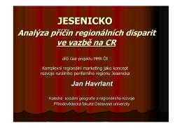 Jesenicko: Analýza příčin regionálních disparit ve vazbě na CR