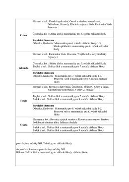 Prima Herman a kol.: Úvodní opakování, Osová a středová