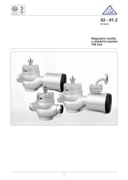 Regulační ventily a redukční stanice 700 line