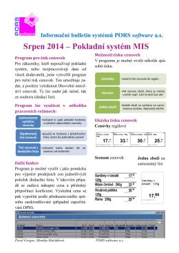 Srpen 2014 – Pokladní systém MIS