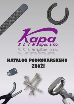 PDF Katalog podkovářského zboží