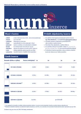 Ceník inzerce - online.muni.cz