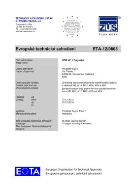 Evropské technické schválení ETA