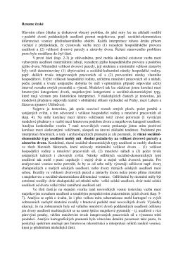 Resume české Hlavním cílem článku je diskutovat obecný problém