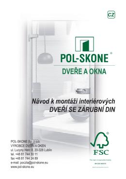 Návod k montáži interiérových DVEŘÍ SE ZÁRUBNÍ DIN - Pol