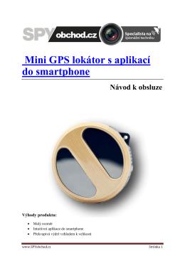 Mini GPS lokátor s aplikací do smartphone