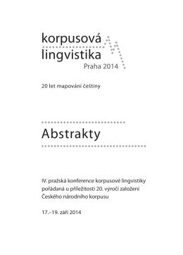 Knihu abstraktů - Český národní korpus