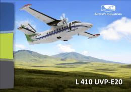 Charakteristiky L 410 UVP-E20