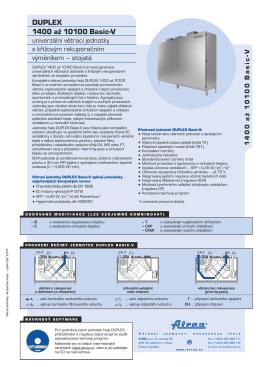 DUPLEX 1400 až 10100 Basic-V