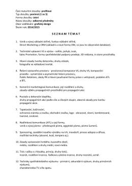 Seznam témat