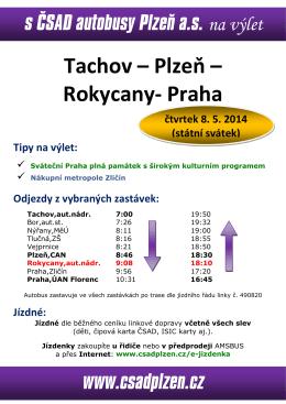 leták výlet Tachov-Praha 2014