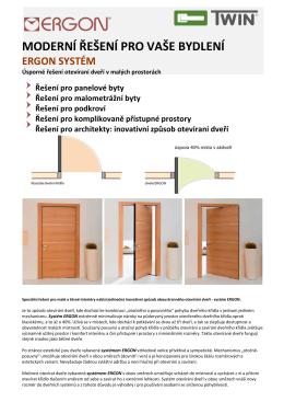 moderní řešení pro vaše bydlení ergon systém