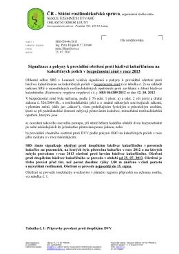 ČR - Státní rostlinolékařská správa, organizační