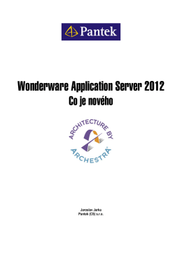 Wonderware Application Server 2012 - Co je nového