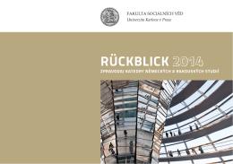 RÜCKBLICK 2014 2014 - Katedra německých a rakouských studií