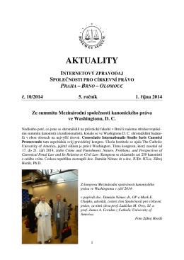 Aktuality č. 10/2014 - Společnost pro církevní právo
