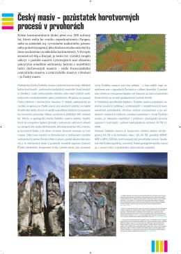 Český masiv – pozůstatek horotvorných procesů v prvohorách