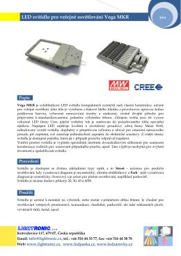 LED svítidla pro veřejné osvětlení Vega 30 MKR