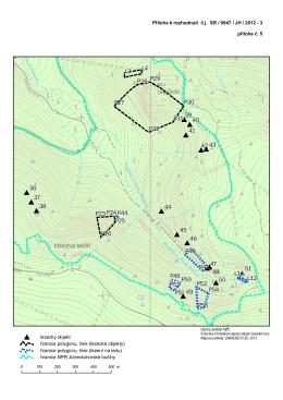 příloha 5: Oblast Velký Štolpich včetně sektorů pro lezení v ledu