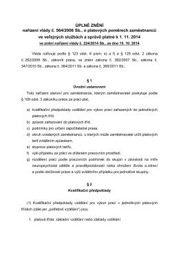 Nařízení vlády č. 224/2014 Sb.