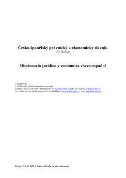 Česko-španělský právnický a ekonomický slovník