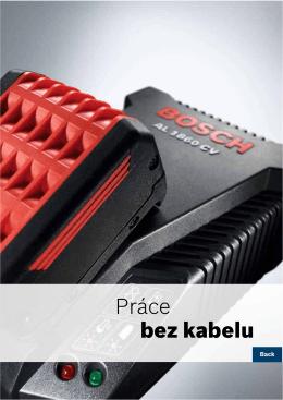 Práce bez kabelu - elektrické nářadí Bosch