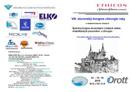 VIII. slovenský kongres chirurgie ruky