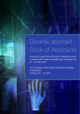 Sborník abstrakt Book of Abstracts