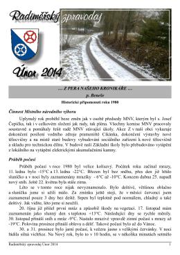 Únor 2014.pdf - Obec Radiměř