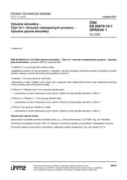 ČSN EN 60079-10-1 OPRAVA 1