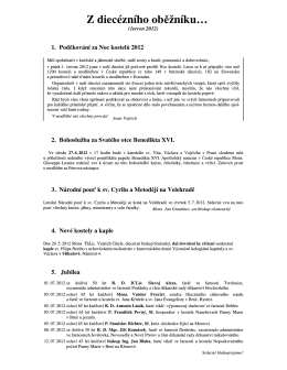 Červen 2012 - farnost Milonice