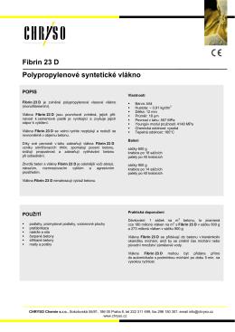 Fibrin 23 D Polypropylenové syntetické vlákno