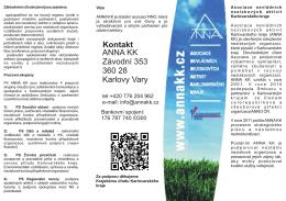 Kontakt ANNA KK Závodní 353 360 28 Karlovy Vary