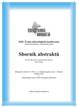 XIII. Česká ichtyologická konference