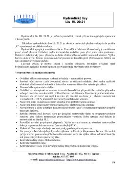 Podrobnosti v souboru pdf.