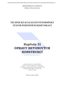Opravy betonových konstrukcí - politika jakosti pozemních komunikací