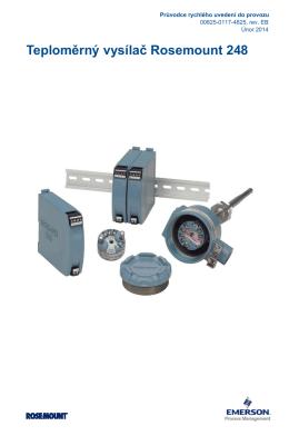 Teploměrný vysílač Rosemount 248