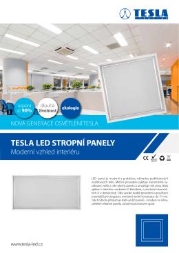 Datasheet TESLA LED stropní panely